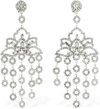 Etro Maxi Chandelier Crystal Clip-On Earrings