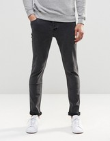 ONLY & SONS Washed Black Slim Fit Jeans with Stretch