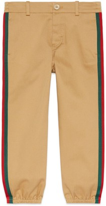 Gucci Children's gabardine trousers with patch