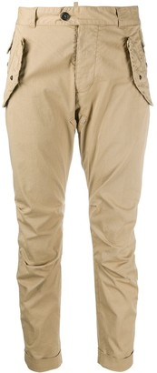 DSQUARED2 Pleated Details Cropped Trousers