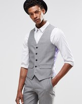 Harry Brown Slim Fit Waistcoat In Light Grey