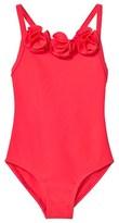 Lili Gaufrette Coral Rose Bud Applique Swim Suit