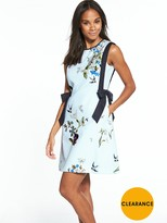 Ted Baker Printed A Line Side Bow Dress