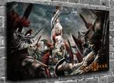 """canvas101 Gears Of War Video Game Playstation X-Box Nintendo Print Picture Size: (50"""" x 36"""")"""
