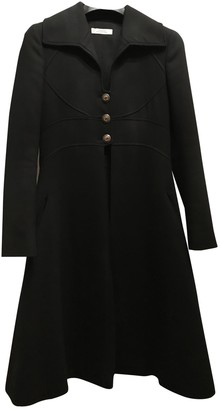Versace Black Polyester Coats
