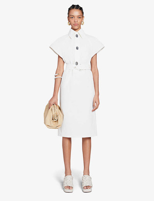 Bottega Veneta Technical-coated cotton midi dress