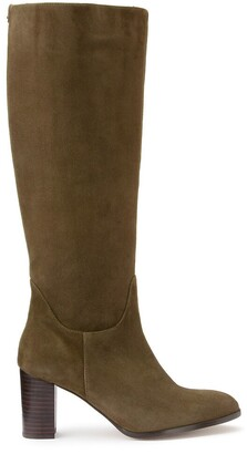 Cosmo Paris Savanna Suede Knee High Boots with Pointed Toe
