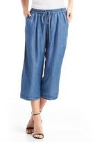 Gap Wide-leg crop chambray pants