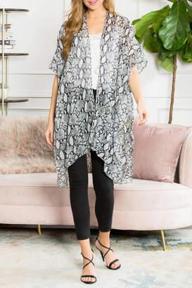 Riah Fashion Animal-Print Open-Front-Kimono