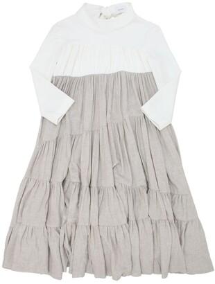 Unlabel Flannel & Milano Jersey Dress