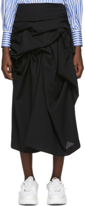 Enfold Black Basket Weave Design Skirt