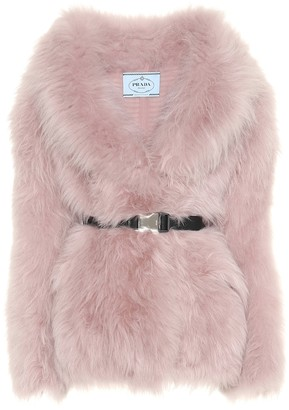 Prada Belted fur jacket
