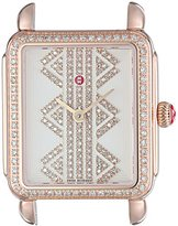 Michele Women's 'Deco II' Swiss Quartz Stainless Steel Casual Watch Head, Color:Rose Gold-Toned (Model: MW06I01B4980)