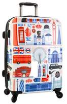 Heys FVT Cities 26-Inch Expandable 4-Wheel Spinner Upright Luggage with London Print