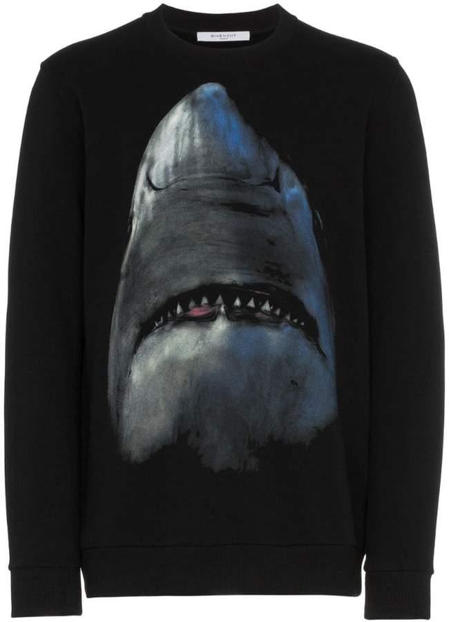Givenchy shark print cotton long sleeve sweatshirt