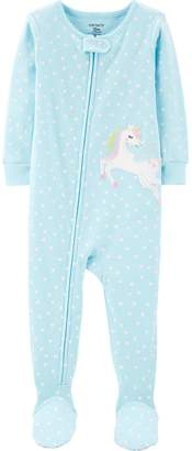 Carter's Toddler Girl 1-Piece Pegasus Snug Fit Cotton Footie PJs