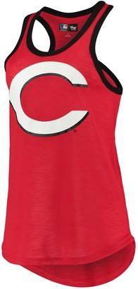 G Iii Women's G-III 4Her by Carl Banks Red Cincinnati Reds Team Logo Tater Racerback Tank Top