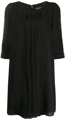 Emporio Armani slit sleeve shift dress