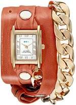 La Mer Women's LMSCW4000 Malibu Gold Cantaloupe Wrap Watch
