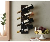 Nobrand No Brand 4-Bottle Wine Holder with Metal Rings - Chocolate