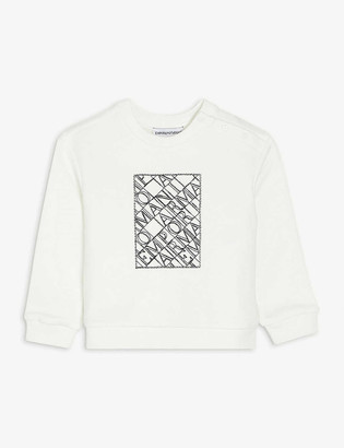 Emporio Armani Logo-embroidered cotton sweatshirt 6-36 months