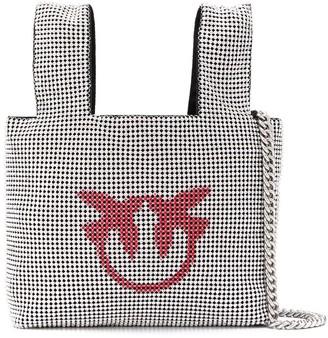 Pinko Chain Logo Tote Bag