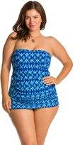 Jessica Simpson Plus Size Navajo Bandeau Swimdress 8124044