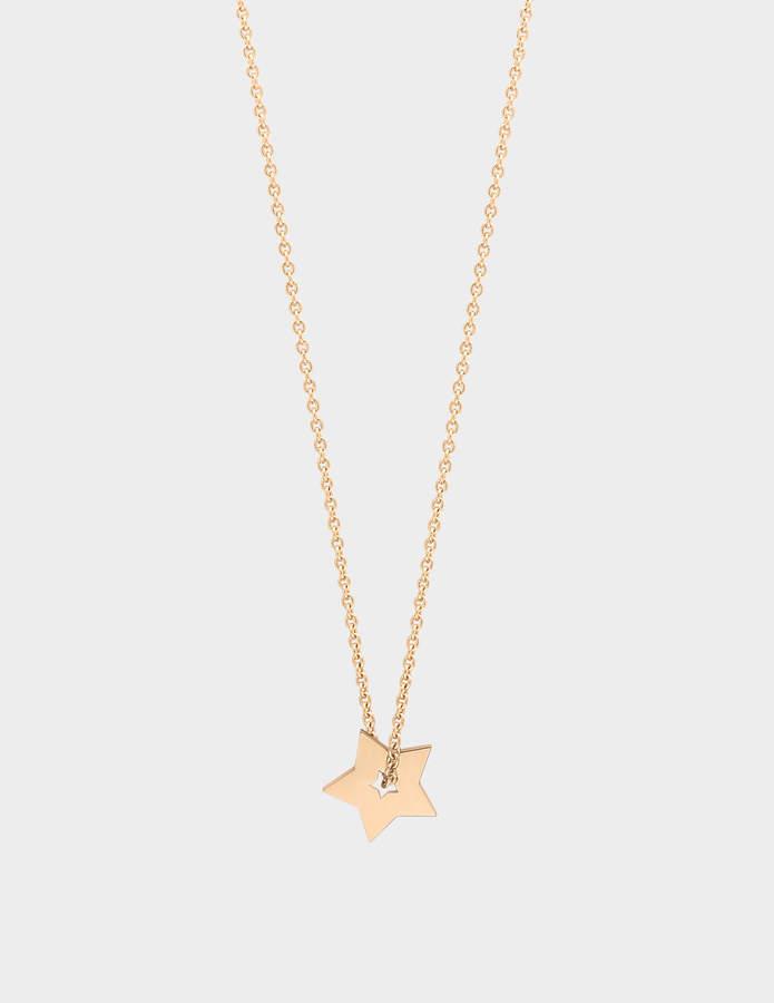 ginette_ny Mini Open Star 18-karat rose gold necklace