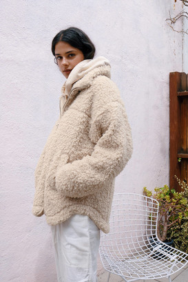 Urban Outfitters Lan Zip-Front Teddy Jacket