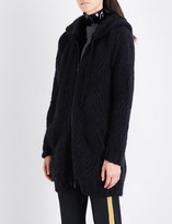 A.F.Vandevorst Zip-up chunky-knit mohair-blend hoody