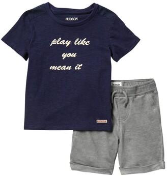 Hudson Play Like You Mean It T-Shirt & Shorts Set