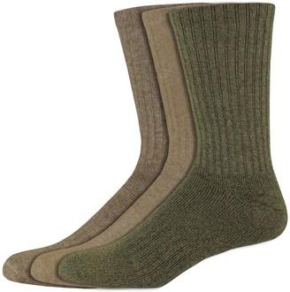 Dockers Men's 3-pack Enhanced Cushioned Crew Socks