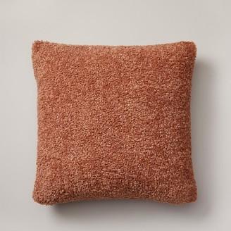 """Indigo Shaggy Faux-Fur Pillow Cover Cafe Au Lait, 18"""" X 18"""""""