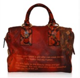 Louis Vuitton excellent (EX Richard Prince Red Man Crazy Monogram Canvas & Snakeskin Shoulder Bag