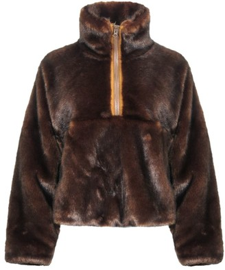 Sandy Liang Teddy Faux Fur Pullover