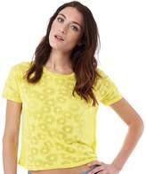 Superdry Womens Daisy Burnout T-Shirt Daisy Yellow