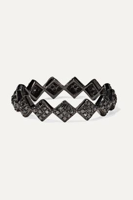 Ofira Tattoo 18-karat Blackened White Gold Diamond Ring
