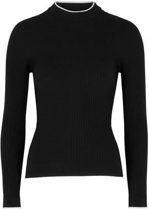 Vaara Filipa black ribbed wool-blend jumper
