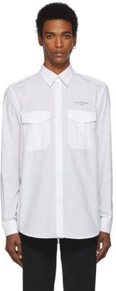 Givenchy White Military Shirt