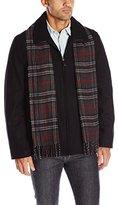 Dockers Wool Melton Laydown Collar Shortie Scarf Coat