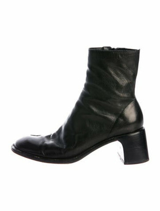 CNC Costume National Leather Boots Black