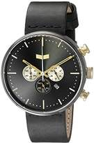 Vestal Unisex RSTCL02 Roosevelt Chrono Leather Analog Display Quartz Black Watch