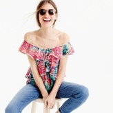 J.Crew Ruffle top in Ratti® painted pineapple