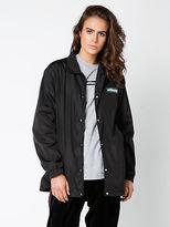 Stussy New Womens Block Italic Coach Jacket In Black Jackets Street Style