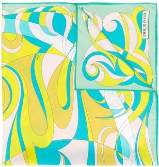 Emilio Pucci Fortuna Print Silk-Twill Square Scarf