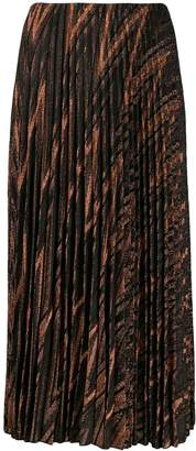 M Missoni metallic knit pleated skirt