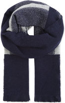 Max Mara Alpaca-wool blend checked scarf