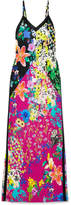 Etro Floral-print Crepe De Chine Maxi Dress - Black