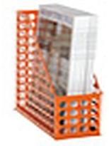 Container Store Circuit Magazine File Orange
