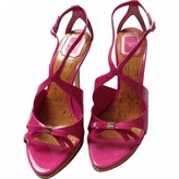 Christian Dior Pink Patent leather Sandals